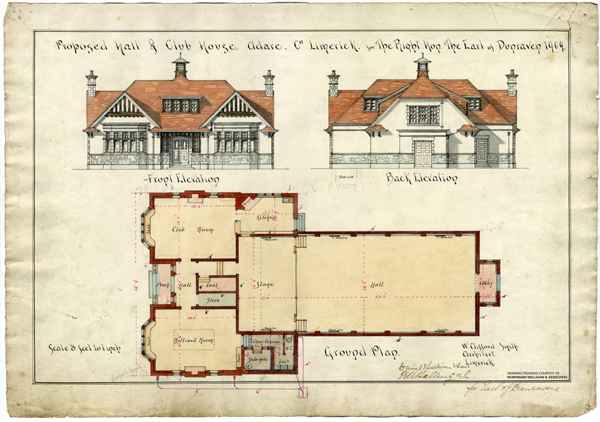 Adare Village Hall 03 - Elevations and Plan