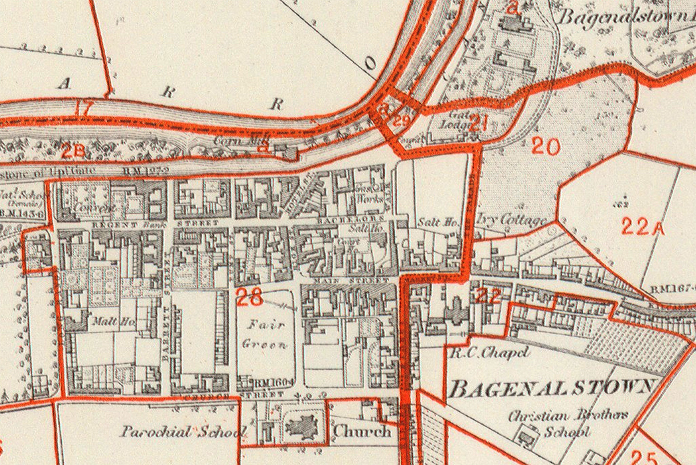 Bagenalstown Courthouse 01 - Valuations Office Map Extract