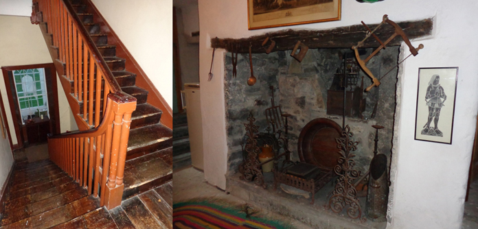 Shankill Castle 02 – Servants' Stairs and Fireplace