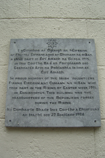 The Athenaeum, Enniscorthy 18 - Plaque (1984)