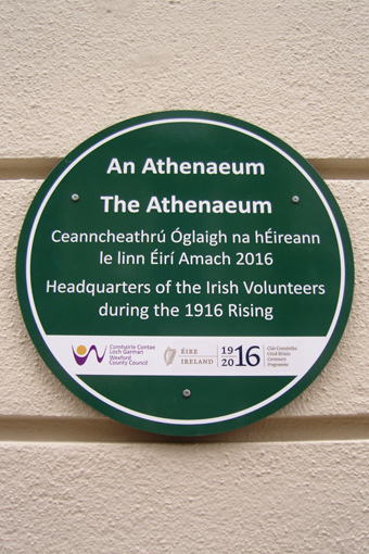 The Athenaeum, Enniscorthy 19 - Plaque (2016)