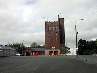 Representative view of fire station from south.