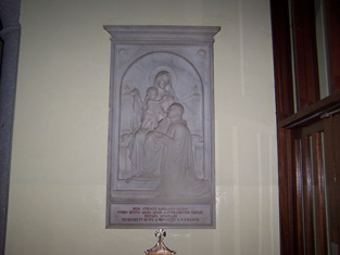Memorial to Canon Kieran Kilroe.