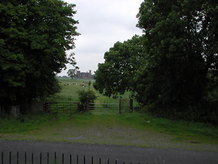 View from the Templar Gate Lodge to the southeast.