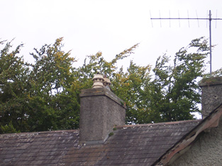 Detail of chimneystack.