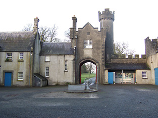 View of gate house from the inner courtyard.