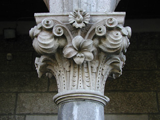 Detail of foliate capital.