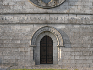 "View of door opening and fittings including view of stone work inscribed: ""THESE STONES SHALL BE FOR A MEMORIAL""."