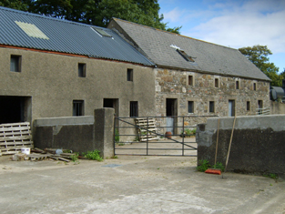 View of outbuildings.