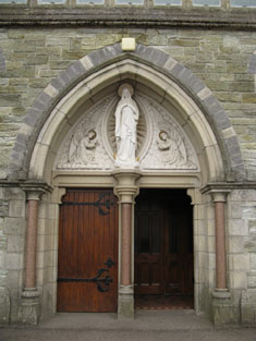 Door opening to front (west) elevation of nave