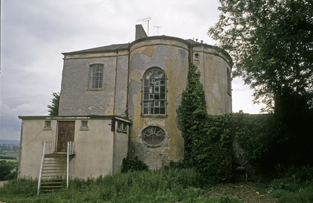 Side elevation with stairwell bow - photograph from Photographic Unit, AHG