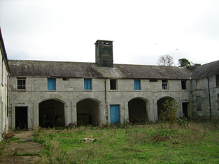 Courtyard of farm buildings, east range.