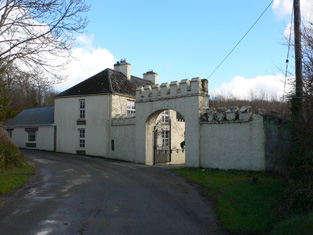 View of lodge and gateway from south-west.