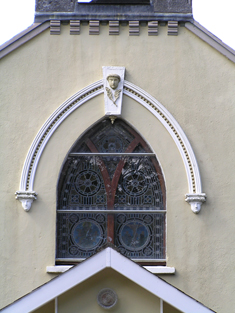 Window to south gable.
