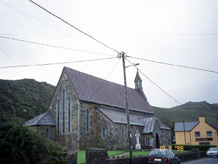 View of church from north.