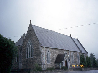 View of church from west.