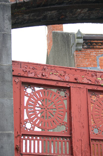 Detail of Gate and West Gable