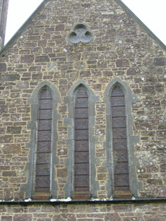 Windows to south elevation.