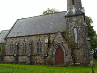 Section of west (front) elevation.