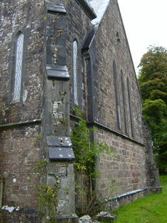 Buttress to south-west.