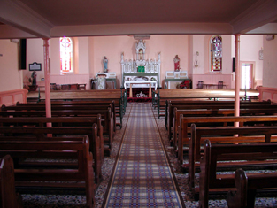 View of interior towards chancel (north-west).