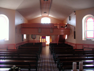 View of interior towards entrance (south-east).