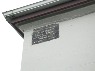 Date plaque to side (north-west) elevation