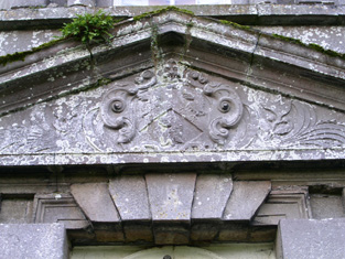 Pediment over North Door