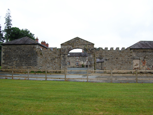 Entrance to main courtyard seen from west