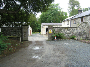 Entrance to rear yard from north-east