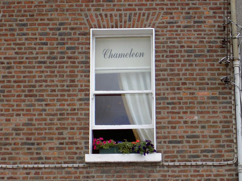 Second floor window, north elevation