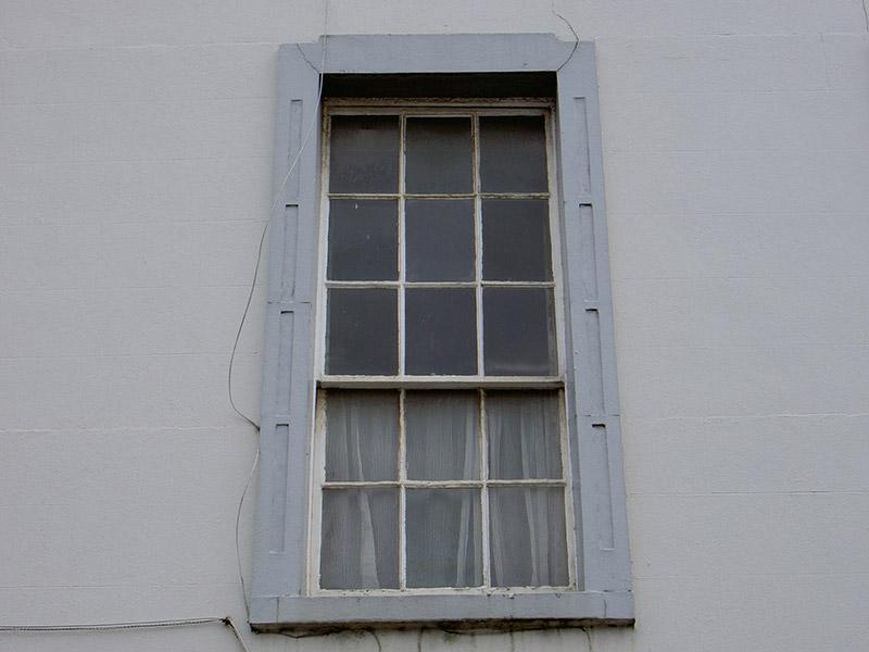 First floor window, north elevation