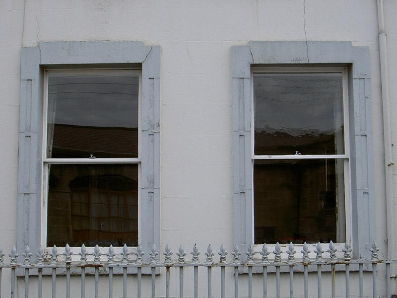 Ground floor windows, north elevation