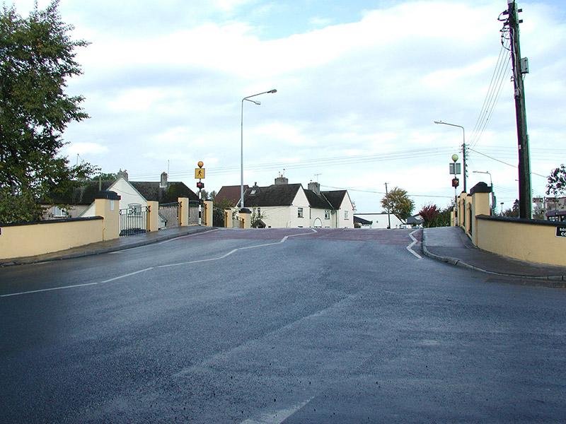 View of bridge to west