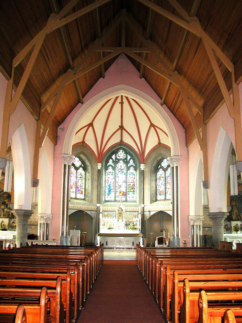 Interior of nave and chancel