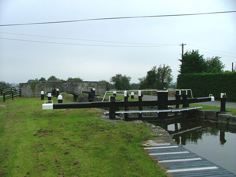 Entrance to lock with bridge in background