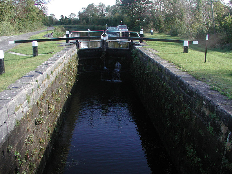 View of west-facing entrance to lock
