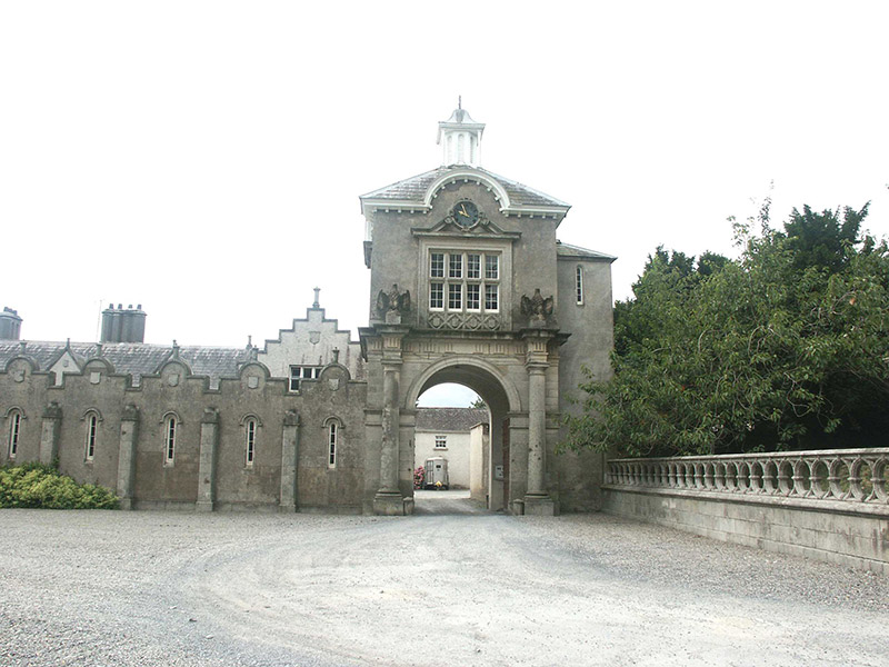 View of tower from courtyard