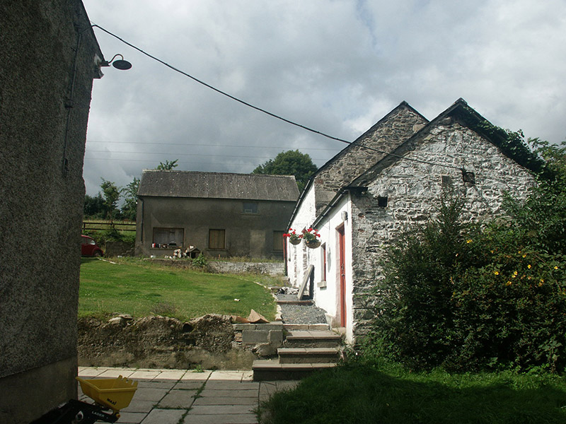 View of outbuildings to the rear