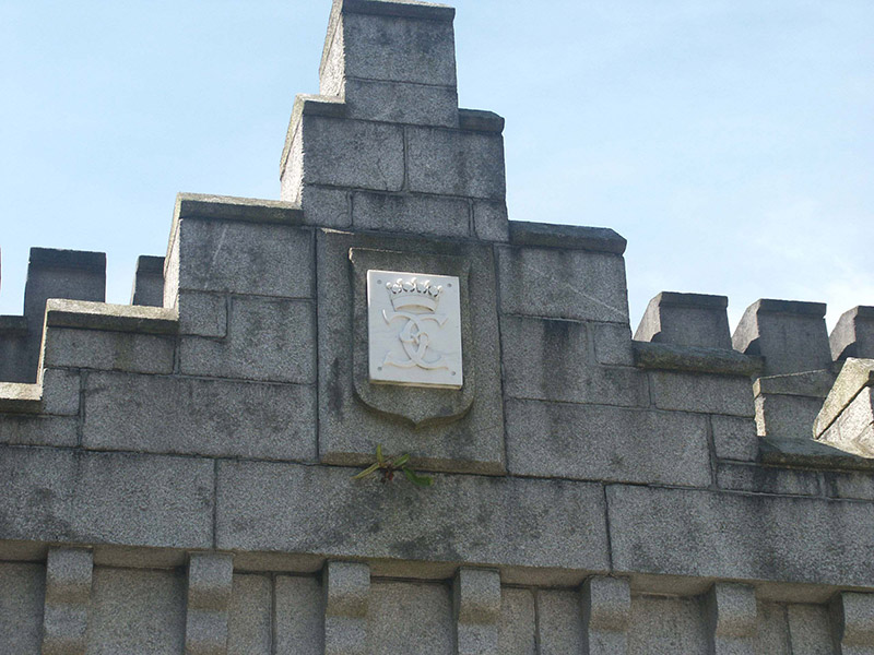 View of coat of arms