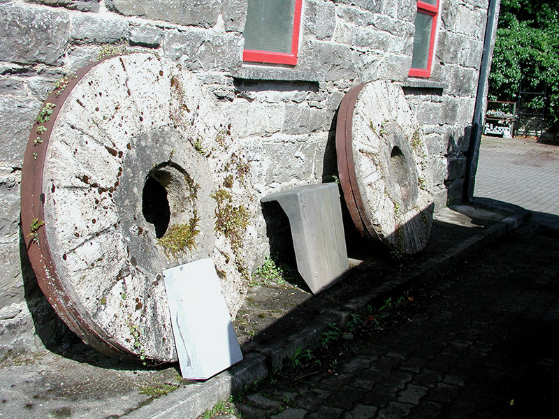 Mill stones at front elevation