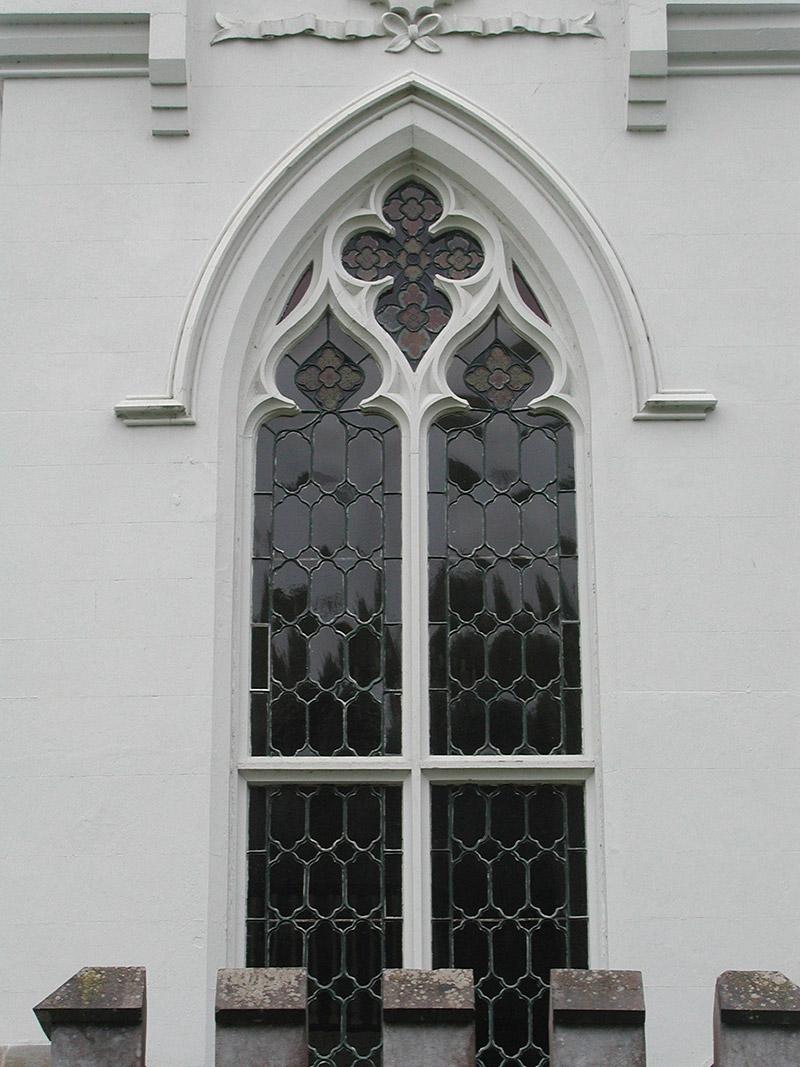Detail of window to rear
