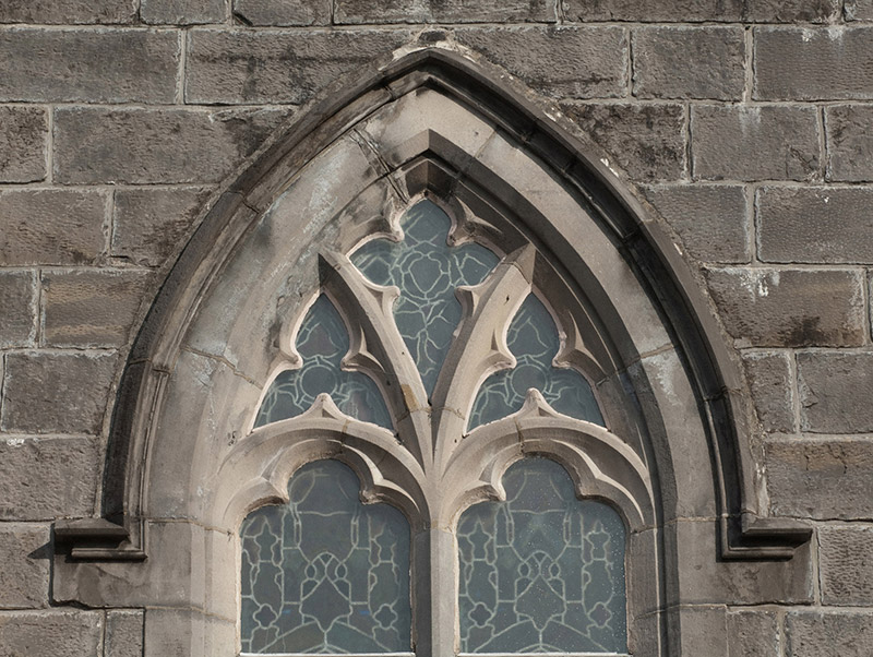 Detail of window opening and fittings.  Photography by James Fraher