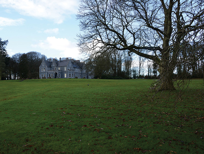 Contextual view of country house (setting).  Photography by James Fraher