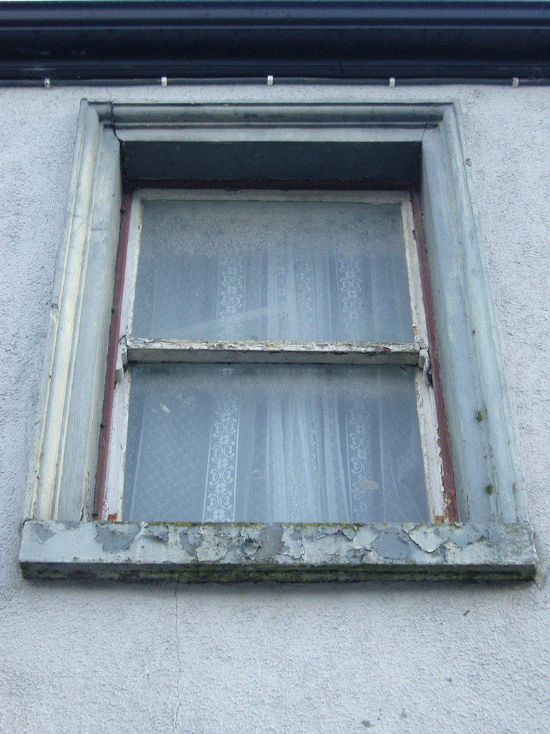View of window opening and fittings.