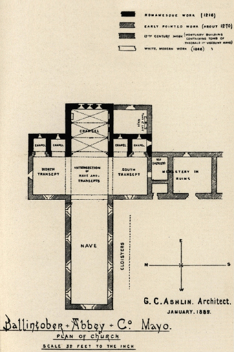 Ballintubber Abbey 02 – Plan (1888)