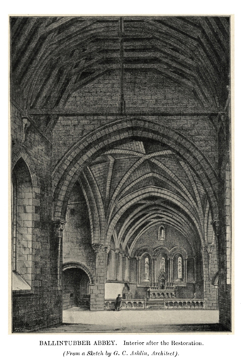 Ballintubber Abbey 07 – Perspective View (1888)