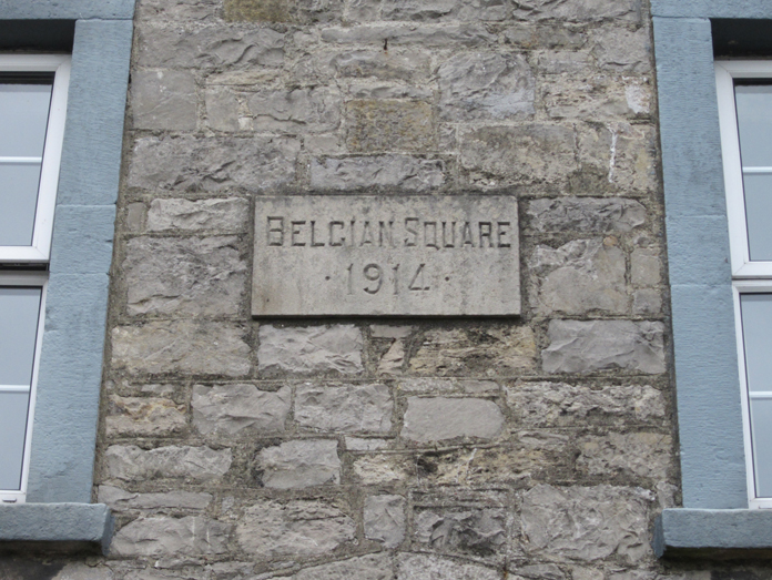 Belgian Square, Monaghan 04 - Plaque