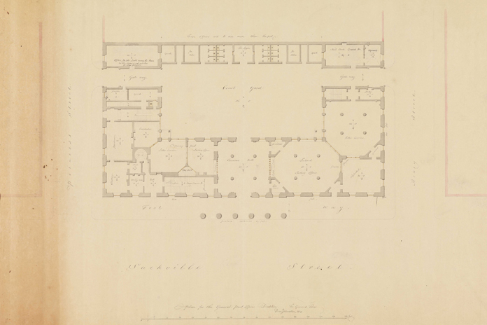 General Post Office Dublin 02 - Francis Johnston Plan (1814)