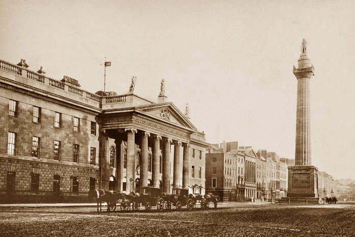 General Post Office Dublin 08 - General Post Office and Nelson's Pillar (1865)